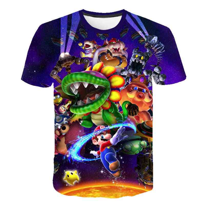 Mario Luigi Print T-shirts