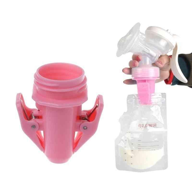 Baby Breast Milk Storage Bags Clip Adapter