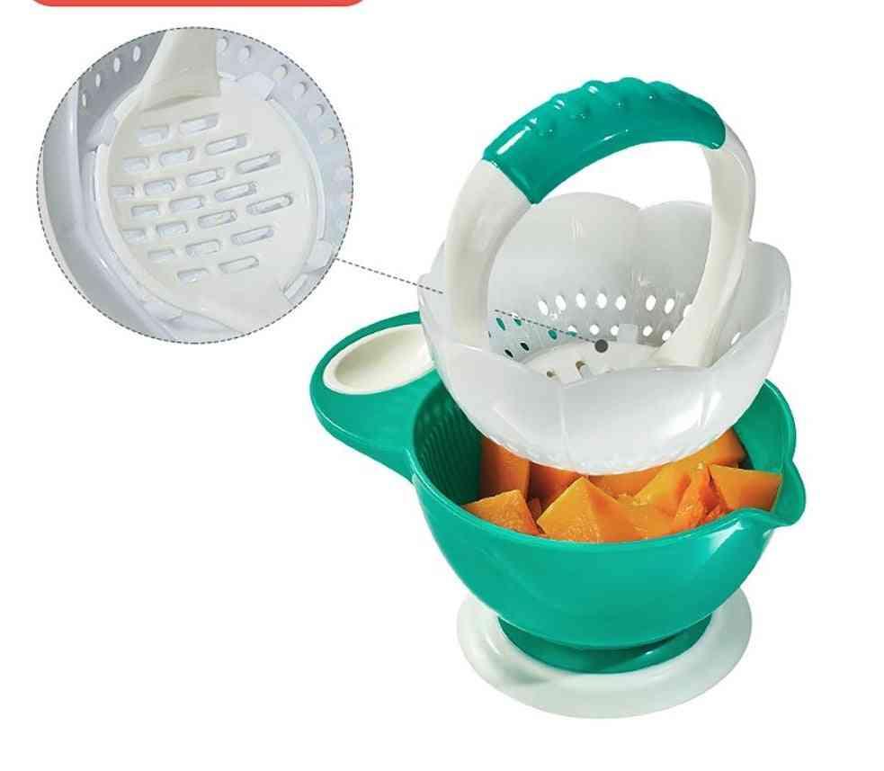 Multifunctional Fruit Vegetable Grinding Masher With Bowl