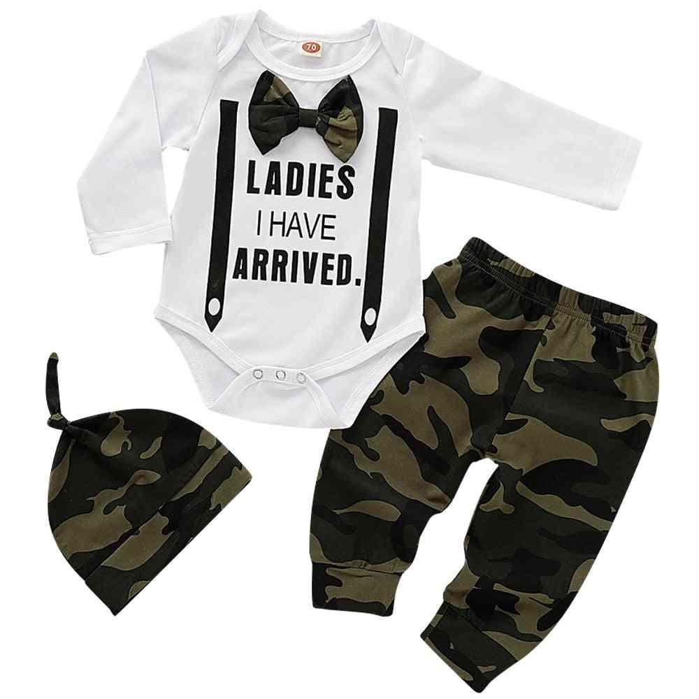 Newborn Baby Clothes Lovely Bowtie Kids Cotton