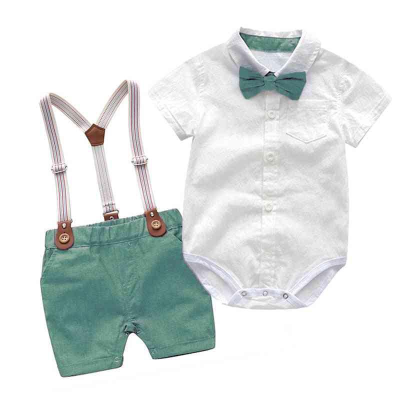 Baby  Clothes Summer Gentleman Birthday Suits