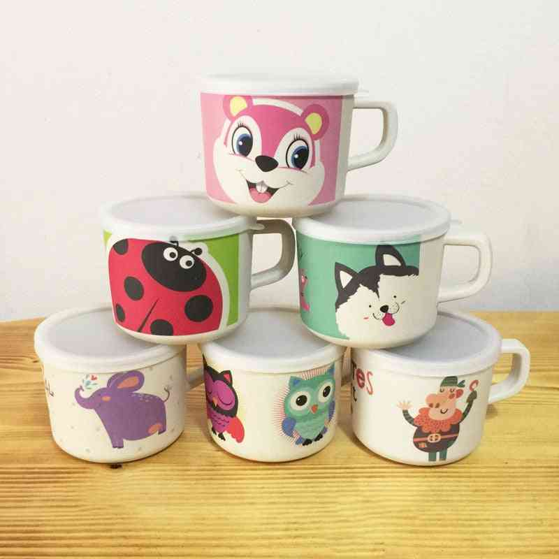 Baby Cups Bamboo Animal Cute Baby With Handle Nature Safe Material Kid