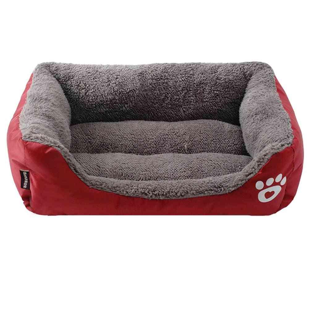 Paw Pet Sofa, Dog Beds, Waterproof, Bottom Soft, Fleece Warm, Cat Bed House, Winter