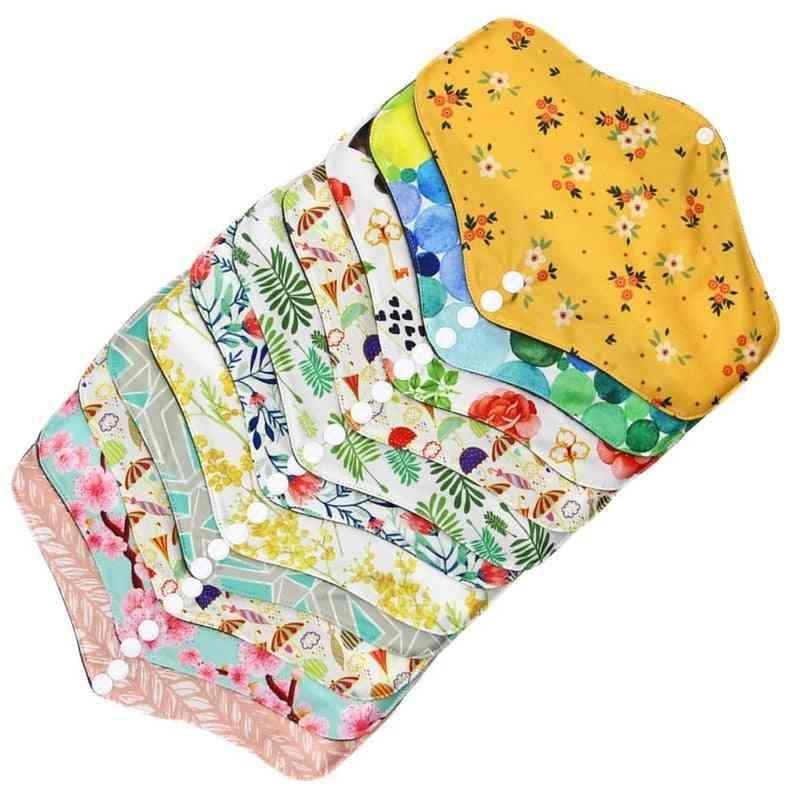 Reusable Cotton Menstrual Cloth Sanitary Soft Napkin Washable Waterproof Pads