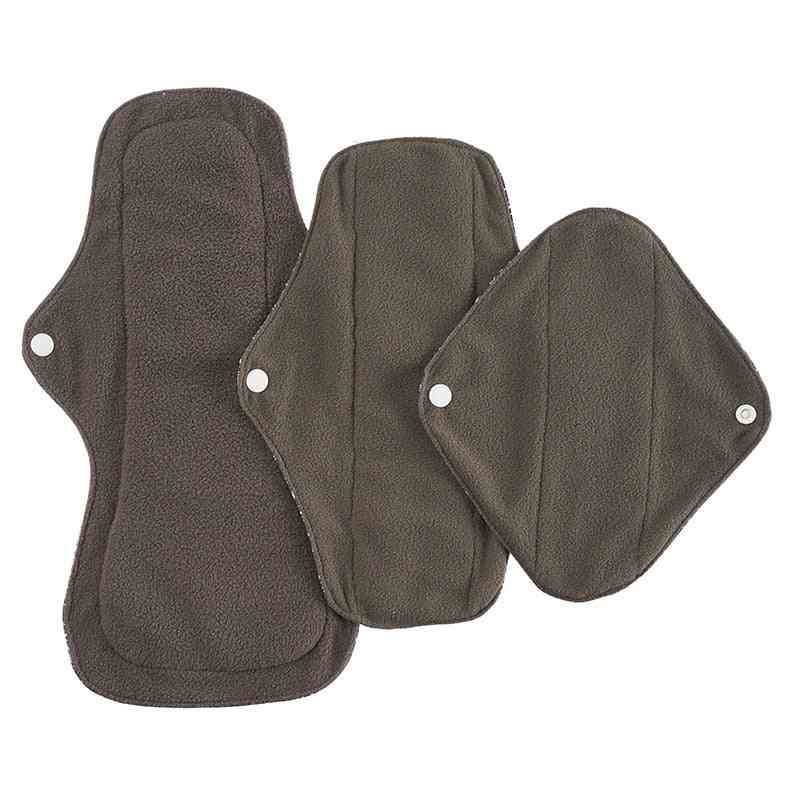 Women Reusable Menstrual Bamboo Charcoal Inner Absorbent Waterproof Pads