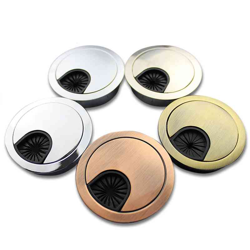 Wire Hole Cover Base Computer Grommet Cable Outlet Port Surface Box & Furniture Hardware
