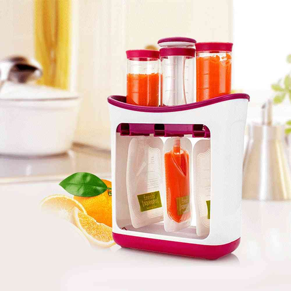Children Fruit Mashing Machine, Newborn Feeding Containers Storage Supplies, Maker Infant Squeeze Station, Baby Food Container