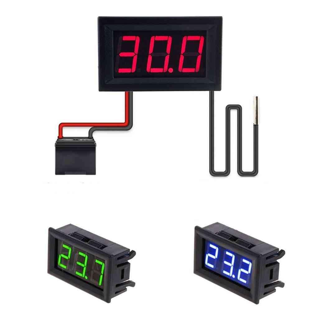 Thermometer Led Digital Tester Panel Gauge