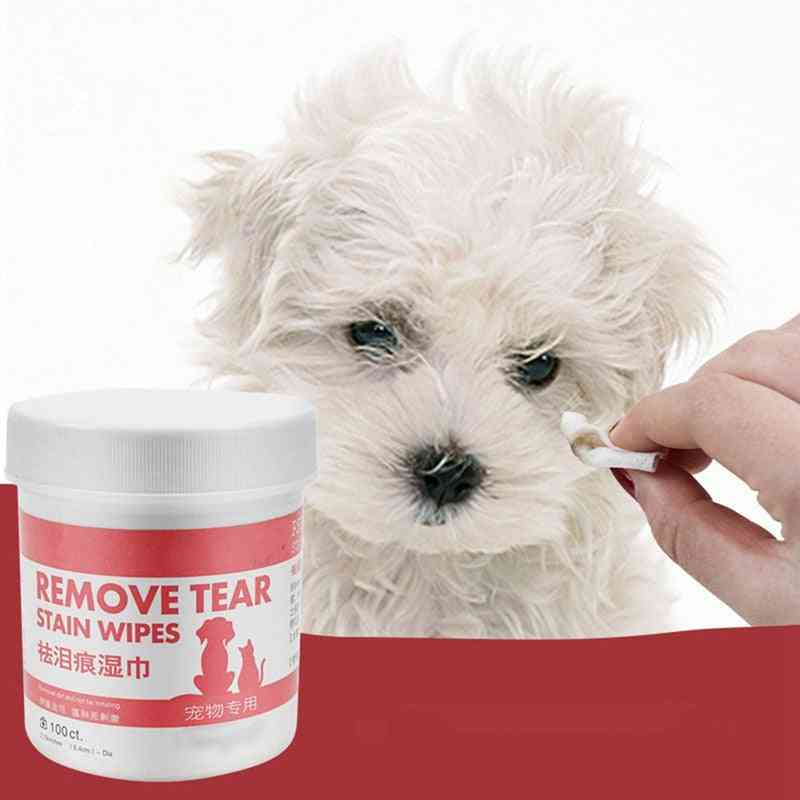 Dog Cleaning Paper Towels Pet Eye Wet Wipes Cat Tear Stain Remover (a)