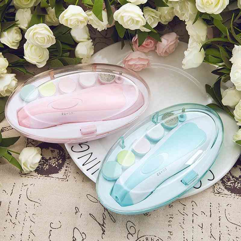 Electric Kids Baby Nail Trimmer Manicure Pedicure Clippers Cutter