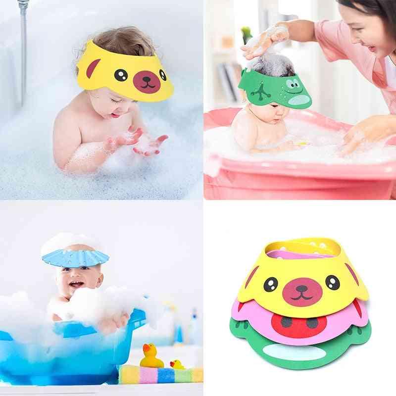 Baby Cap, Shower Cap, Baby Bath Cap-shower Hot Bath Visor Wash Protect Eyes Hair