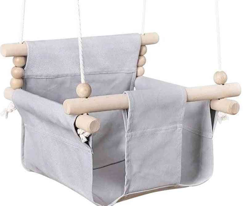 Baby Canvas Swing Chair Hanging Wood