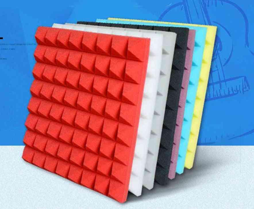 500x500x50mm Soundproofing Foam Acoustic Sound Treatment Studio Room Absorption Tiles Polyurethane