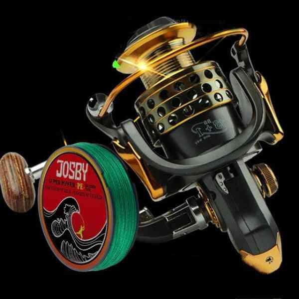 Full Metal Fish Feeder/coils/ Mlinete Spinning Reels / Sea Rock Bait Fishing Hot Wheel