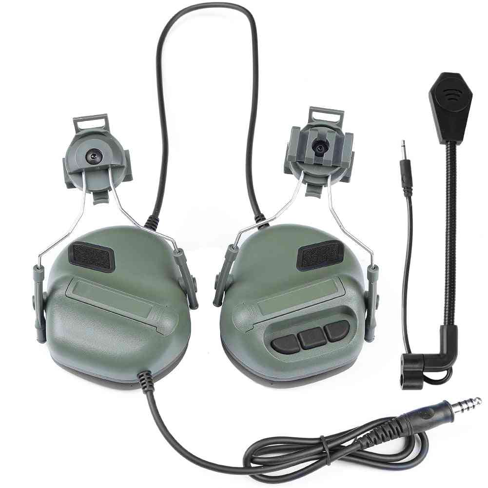 Fast Helmet Rail Adapter Military Airsoft Communication Headphone For Hunting/shooting