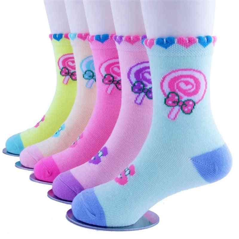 Kid Winter Autumn Girl Cartoon Socks