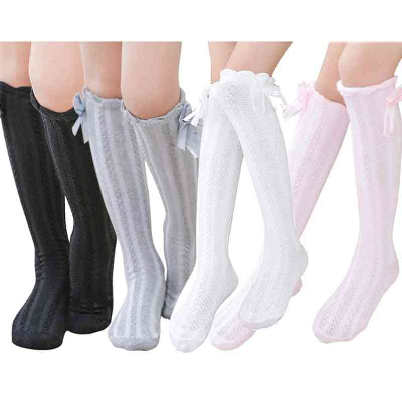 Girl Cotton Bow Decoration Warmer Socks