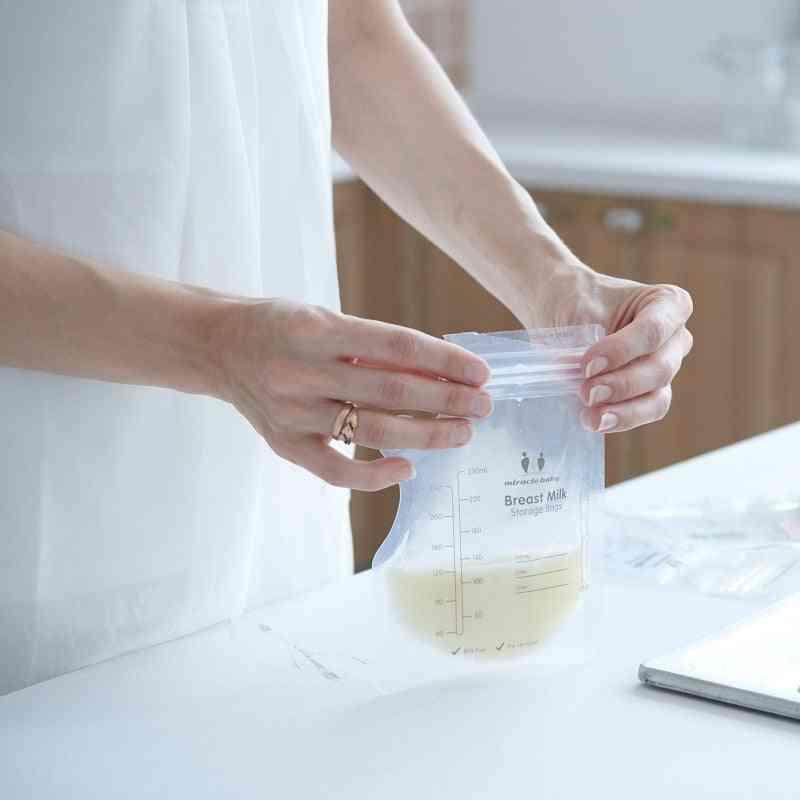250ml Milk Freezer Bags Baby Food Storage