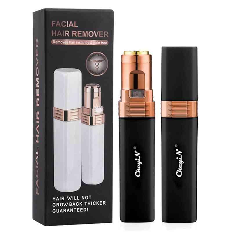Lady Shaver, Body Face Lipstick Shape, Shaving Female Painless Leg, Cheek, Upper Lip, Hair Remover Makeup Tool