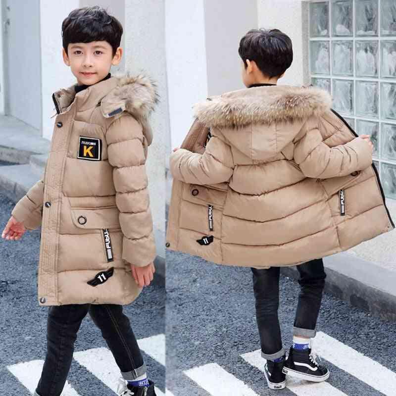 Children's Winter Jacket, Fur Coat Teenage 5 To 15 Years Child Outerwear Coat