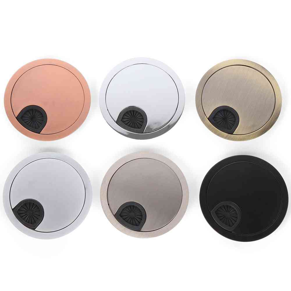 Zinc Alloy Desk Wire Hole, Cover Computer Tidy Grommet Table, Cable Fastener Clamp, Buckle Line Organizer Box, Office Hardware