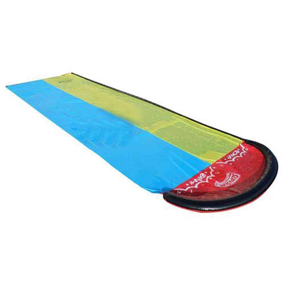 Children Double Surf Water Slide Outdoor Garden Racing Lawn Water Slide Spray Toy