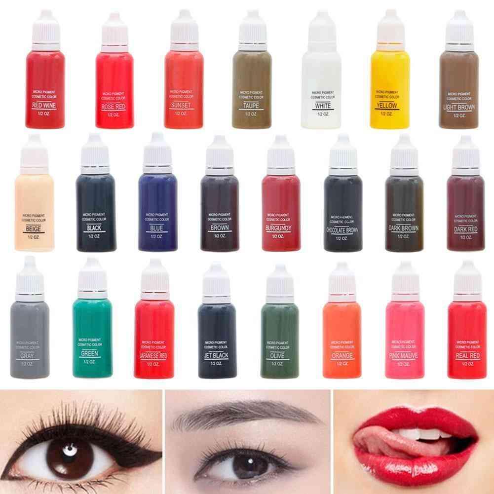 Semi Permanent Makeup Eyebrow Inks, Lips, Eye Line Tattoo Color, Microblading Pigment Inks