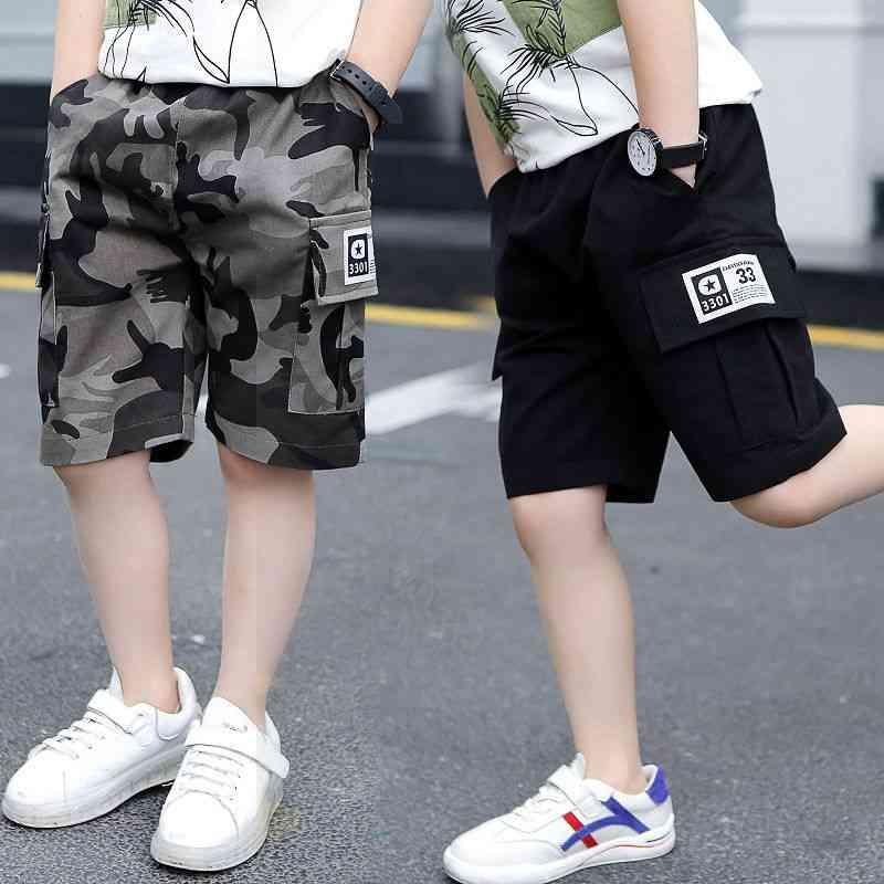 Summer Camouflage Loose Pants Teenage Trouser Shorts Cotton Black Pants