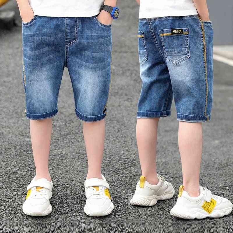 Children Short Denim Thin Short Trousers Stretch Board Shorts Jeans