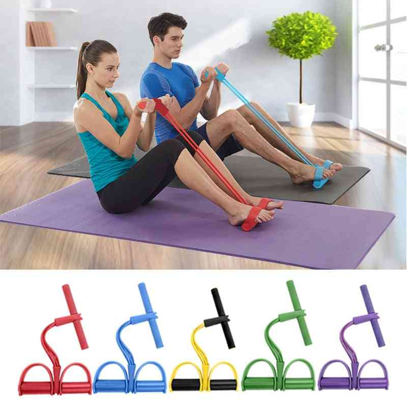 Pedal Elastic Exercise Bands, Fitness Rubber Band Tubes Resistance, Abdomen Trainer