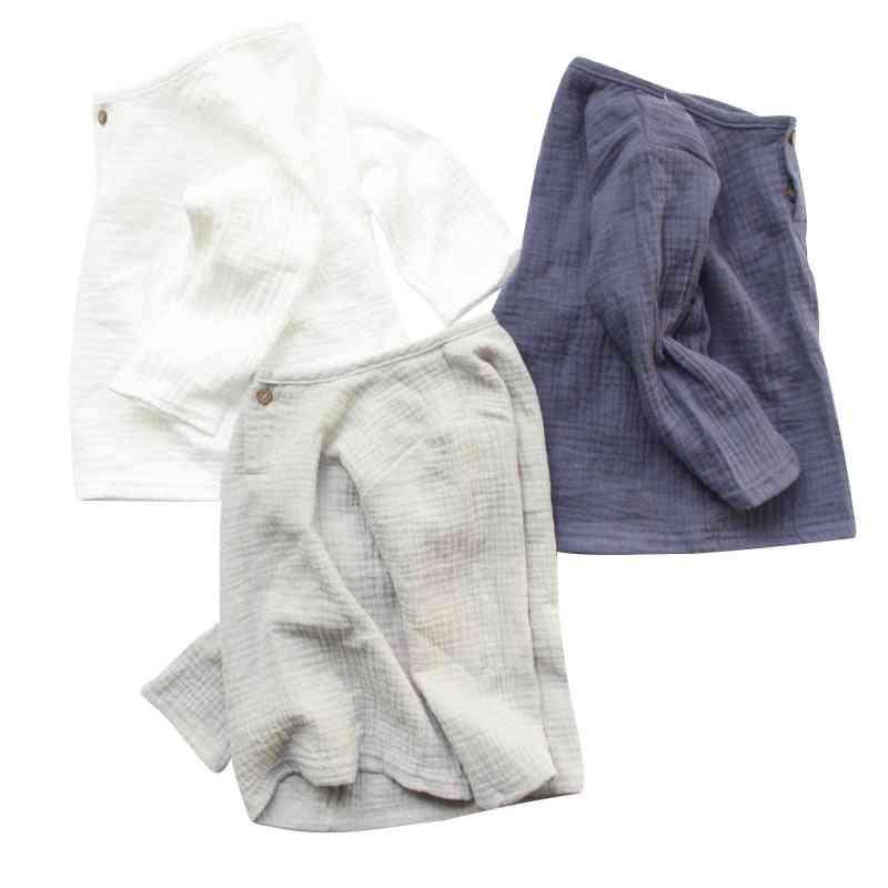 Linen Cotton Baby Boy, Girl Summer T Shirts, Toddler Comfortable Tops, Tee Clothing Kids
