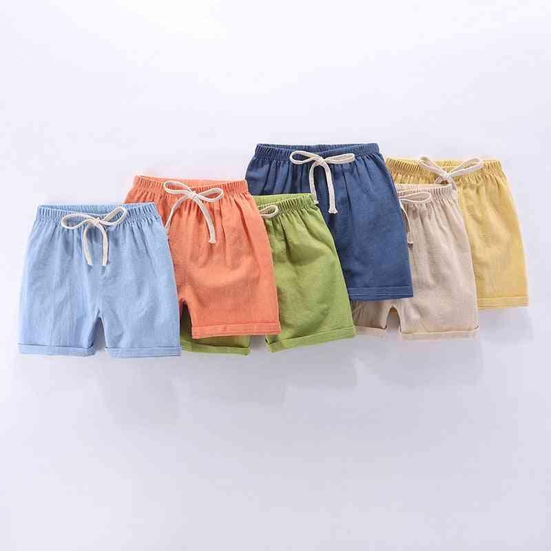 Children Summer Shorts For, Kids Casual,  Cotton Linen Breathable Soft Short Pants