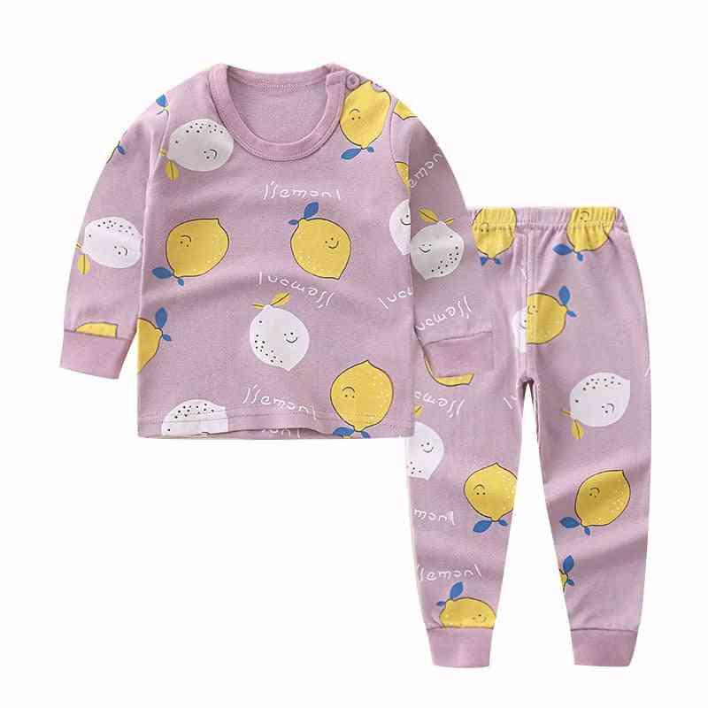 Newborn Kids Pajama Sets, Cartoon Casual Long Sleeve T-shirt Tops