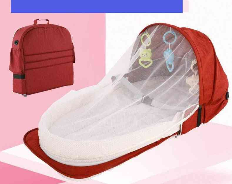 Mobile Crib Baby Bed / Nest Cot Multi-function Foldable With Mosquito Net