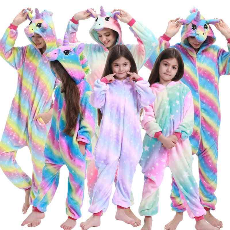 Boy Girl Stitch Unicorn Pajamas, Kids Kigurumi Anime Panda Pajama, Women Nightie