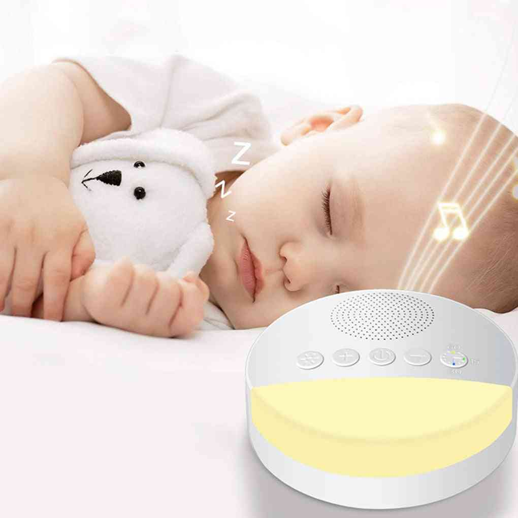 Usb Rechargeable Timed Shutdown Sleep/noise Machine/ Player, Baby Sleep Sound Player Night Light Timer  (white)