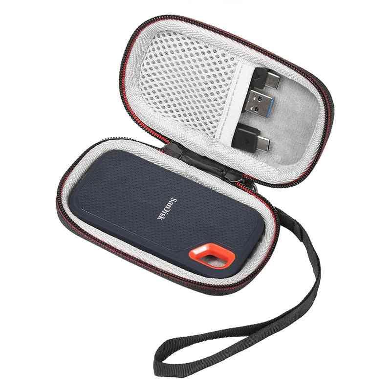 New Hard Case For Sandisk , Extreme Portable Ssd Sdssd Carrying Storage Bag