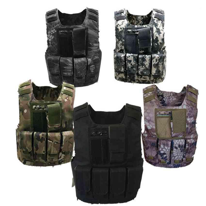 Kids Tactical Vest Camouflage Bulletproof Combat Armor Tops