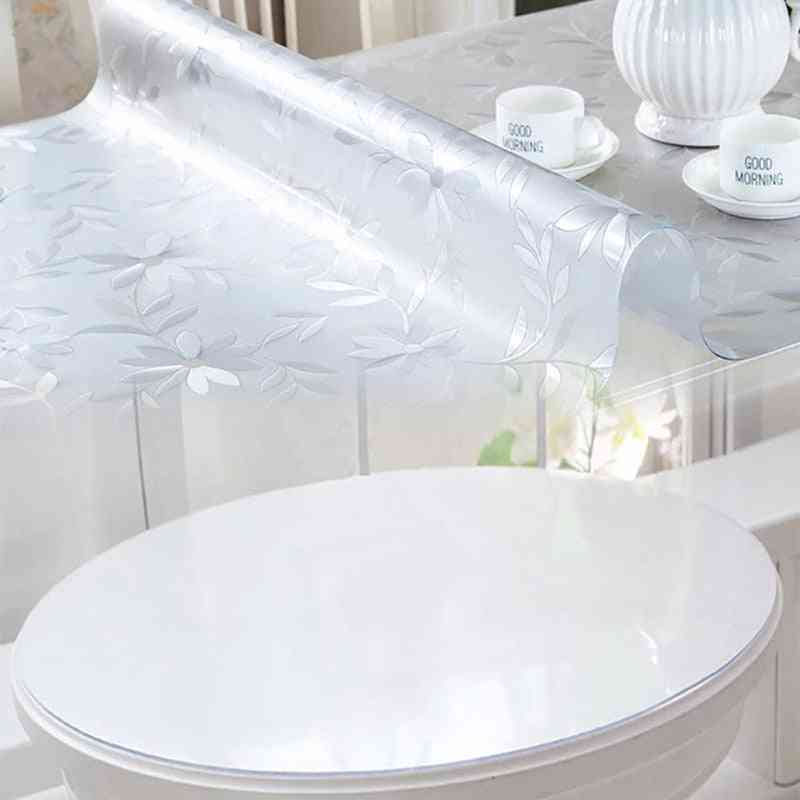 Soft Glass Tablecloth. Transparency Pvc Dining Table Cover