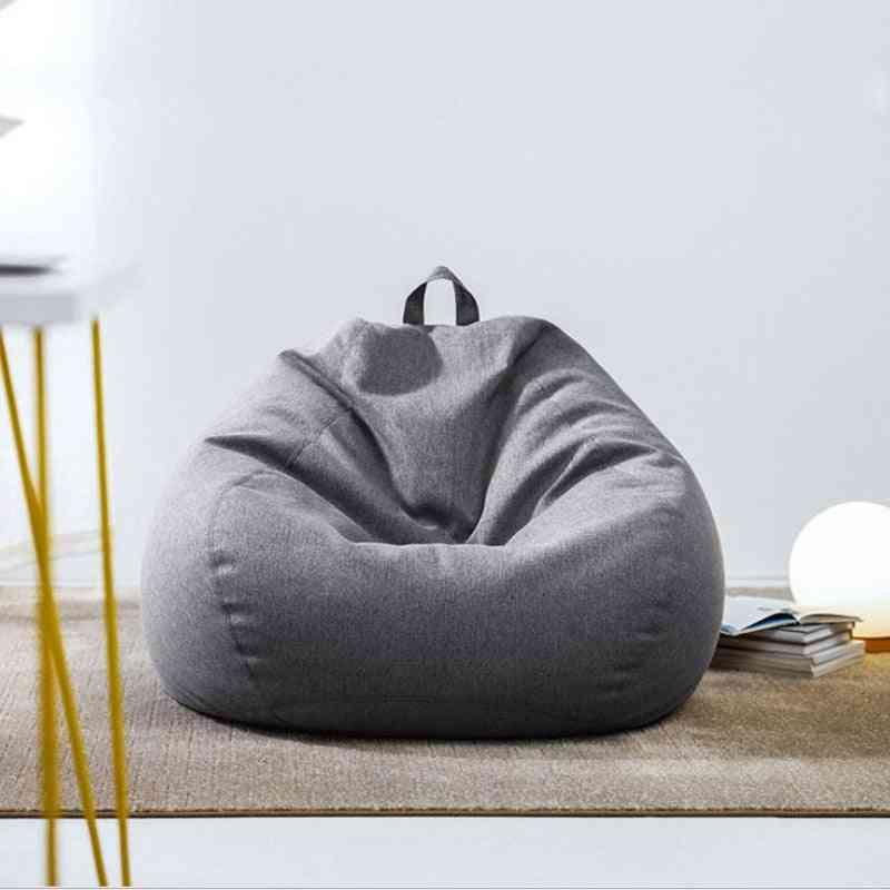 Bean Bag Sofa Chair No Filler Cloth Chair Recliner Seat Beanbag Cushion Storage