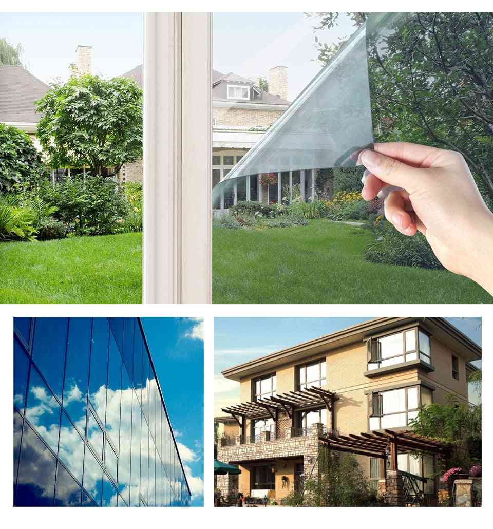 One Way Mirror Window Film, Privacy Glass Self Adhesive Tint For Home