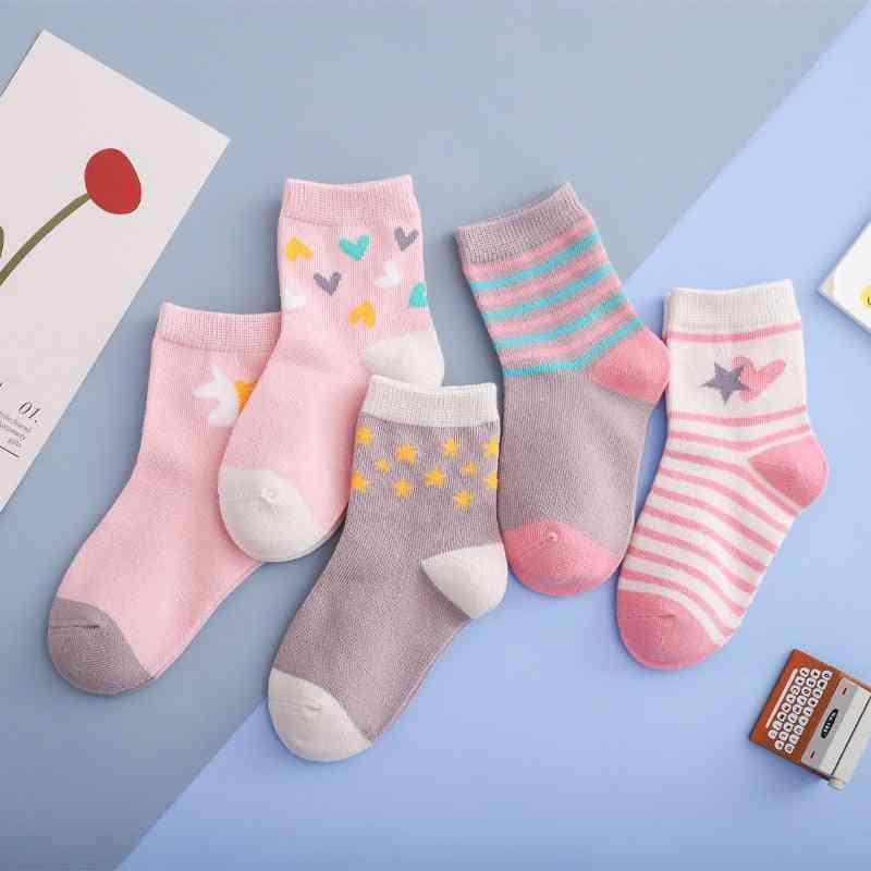 Cartoon Unicorn Star Cotton Knit Warm's Socks