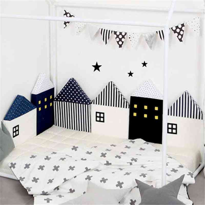 Baby Bed Bumper Little House Pattern Crib Protection Infant Cot