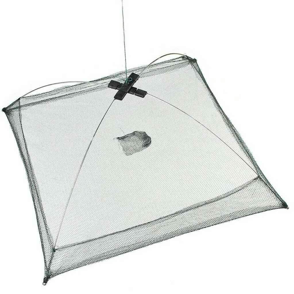 Newly Portable Folded Fishing Net, Baits Mesh Durable For Shrimp Minnow Crayfish