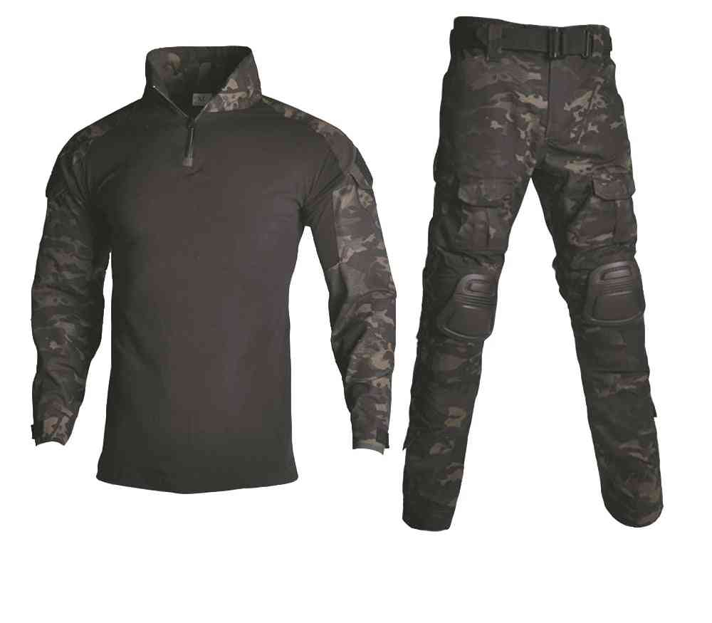 Tactical Camouflage Military Uniform Clothes Suit Men Us Army Airsoft Shirt Cargo Pants Knee Pads