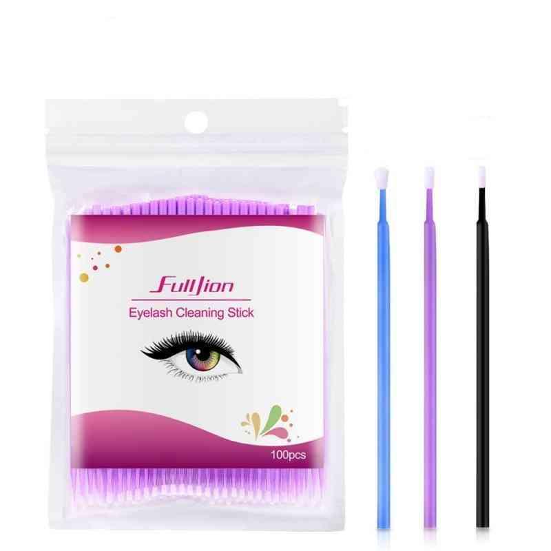 Cotton Swab Grafting Eyelash Cleaning Stick Micro Brushes