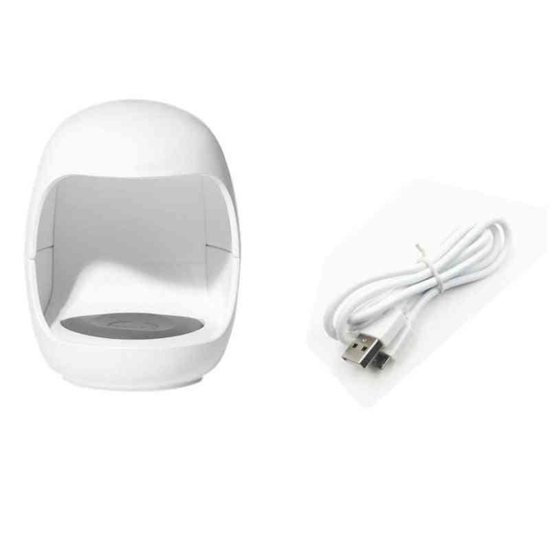 Nail Dryer Mini 3w Usb Uv Led Lamp Nail Art Manicure Tools Pink Egg Shape Design 30s Fast Drying Curing Light For Gel Polish