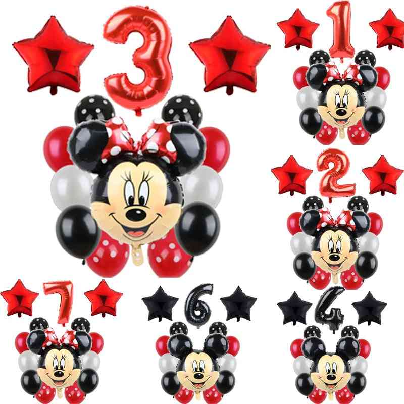 Mickey Minnie Mouse Party, Balloons Birthday Party Decorations Baby Shower Decor