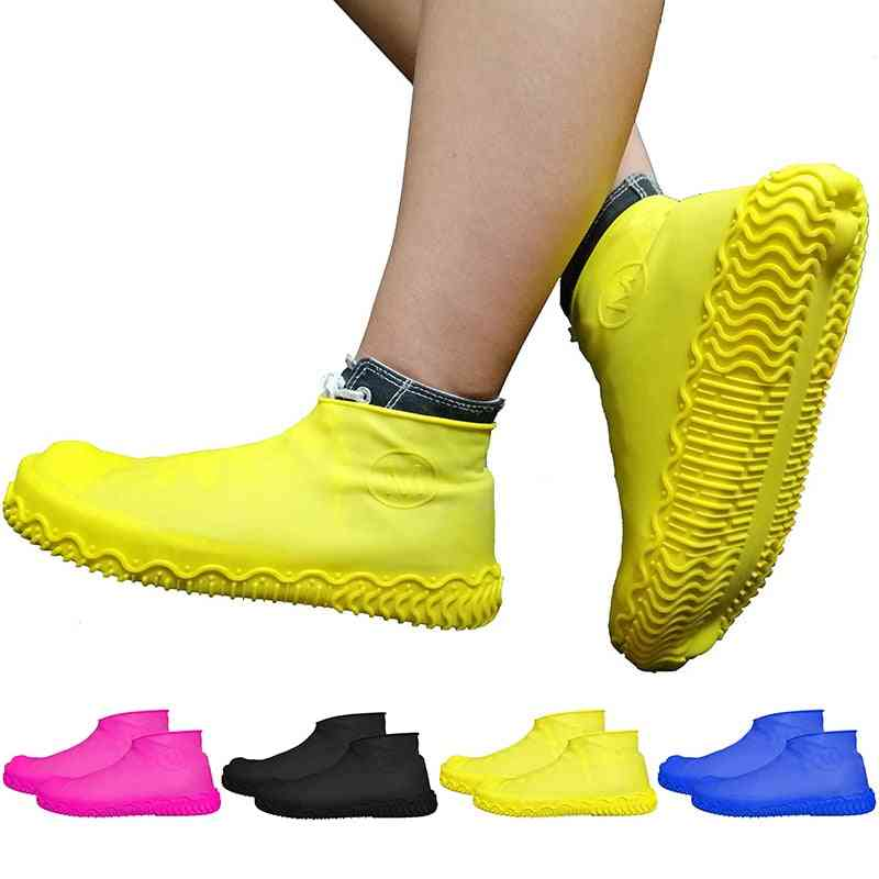Reusable Silicone Shoe Cover, Waterproof, Water Rain Shoes Covers, Outdoor Camping, Non Slip, Rubber Boot