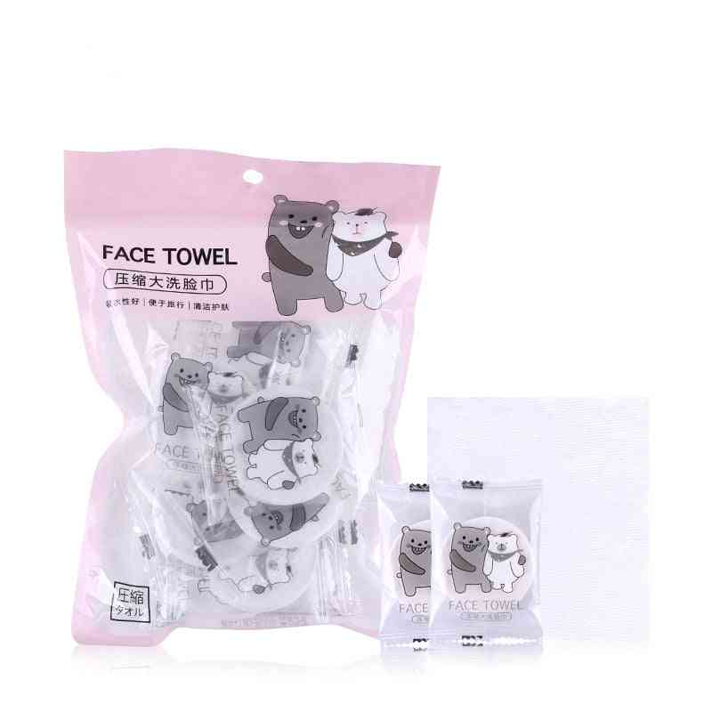 Space Saving Compressed Towel Cotton